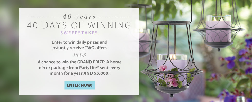 PartyLite 40 days of winning