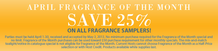 PartyLite Fragrance of the Month for April