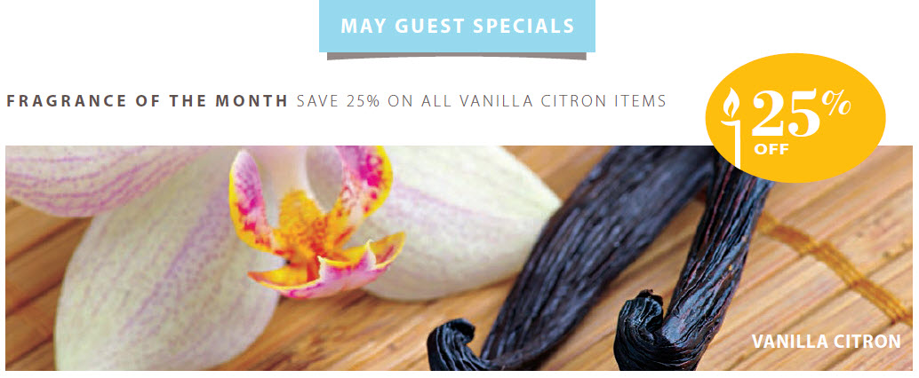Vanilla Citron is Fragrance of the Month